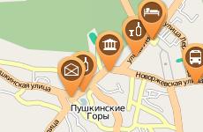 Интерактивная карта Пушгор